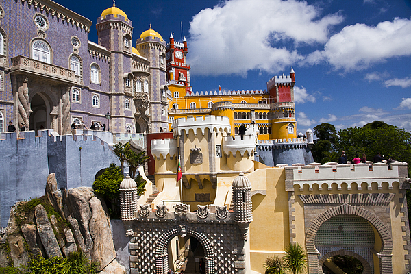 Pena Palace Near Lisbon. Photograph by Thomas Roche