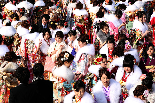 People Celebrate Coming of Age Day In Japan Photograph by Buddhika Weerasinghe