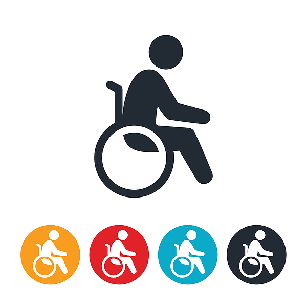 Person In Wheelchair Icon Drawing by Appleuzr