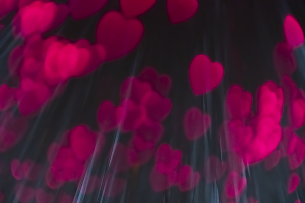 Pink heart shaped light bokeh Photograph by Catherine MacBride
