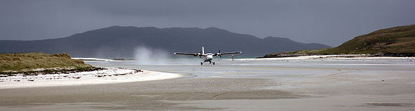 Plane taking off at Barra beach Photograph by Paddimir Photography