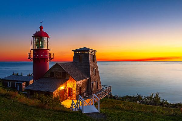 Pointe-à-la-Renommée_lighthouse _sunrise-DRI Photograph by Jean Surprenant