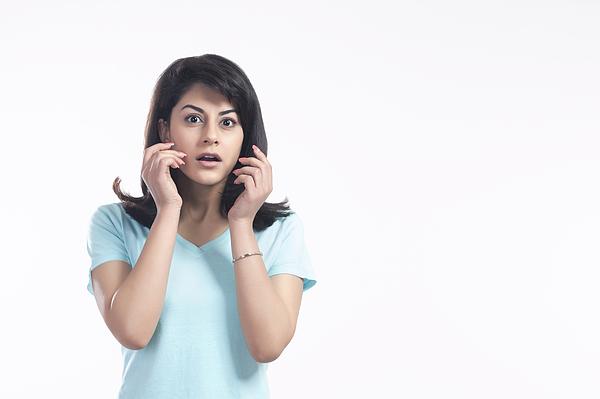 Portrait of a woman in shock Photograph by Sudipta Halder