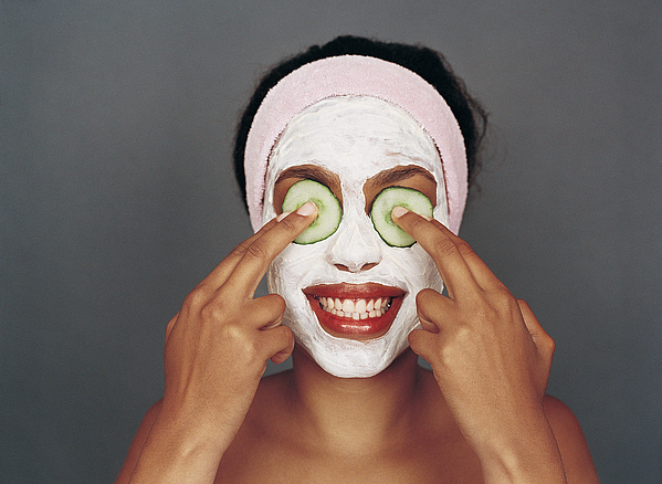 Portrait of a Woman With a Beauty Mask Photograph by Sydney Shaffer