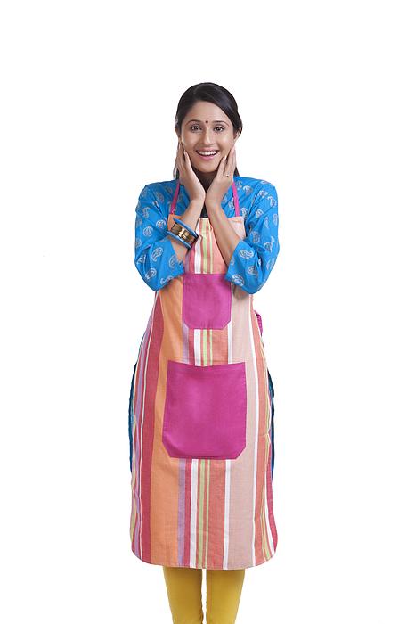 Portrait of a young WOMEN wearing an apron Photograph by Sudipta Halder