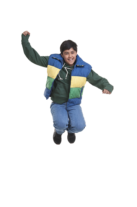 Portrait of boy jumping in the air Photograph by Sudipta Halder