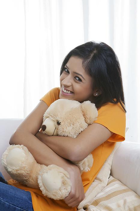 Portrait of girl with teddy bear Photograph by Ravi Ranjan