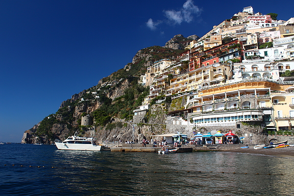 Positano waterfront. The Amalfi Coast, Campania, Italy Photograph by Amaia Arozena & Gotzon Iraola
