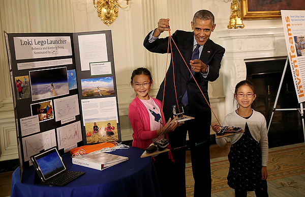 President Obama Attends White House Science Fair Photograph by Win McNamee