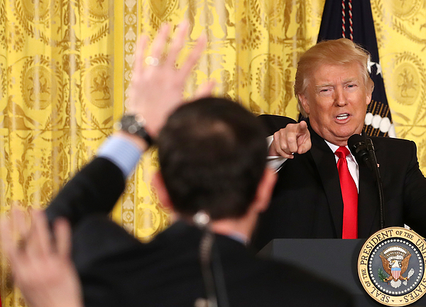 President Trump Holds News Conference In East Room Of White House Photograph by Mark Wilson