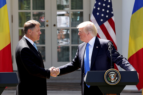 President Trump Holds News Conference With President Of Romania Klaus Iohannis Photograph by Chip Somodevilla