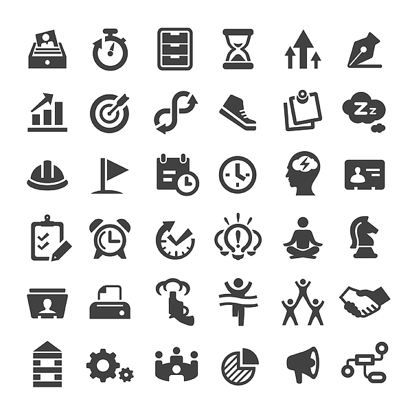 Productivity Icons - Big Series Drawing by -victor-