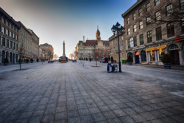 Quiet In Old Montreal, Canada Photograph by L. Toshio Kishiyama