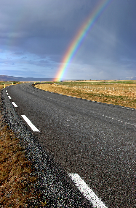 Rainbow Road Photograph by Saturated