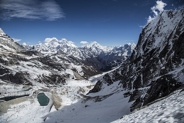 Raised View Of Mountains And Lake In Snow Photograph by Hans Hornberger/ Ascent Xmedia