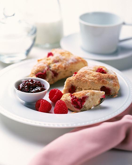 Raspberry scones Photograph by Jackson Vereen
