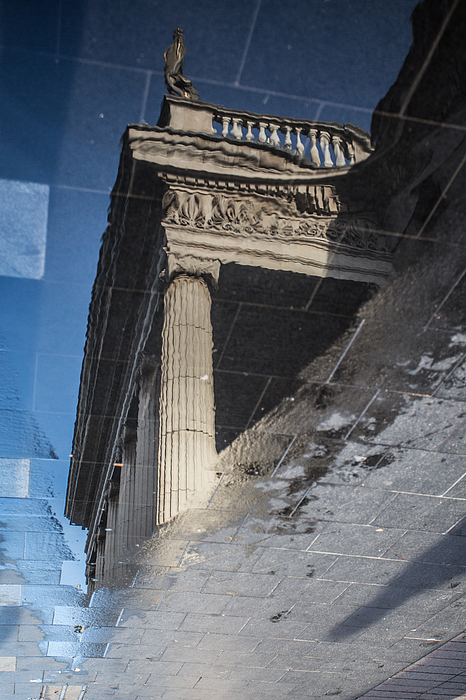 Reflection of the General Post Office in Dublin Photograph by David Soanes Photography
