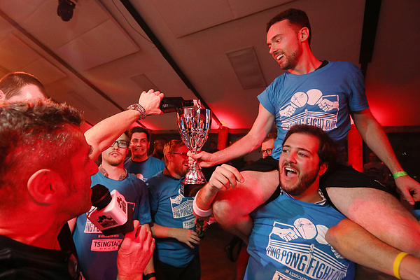 Revenge And Brexit Worries Served Up At London Ping Pong Contest Photograph by Bloomberg