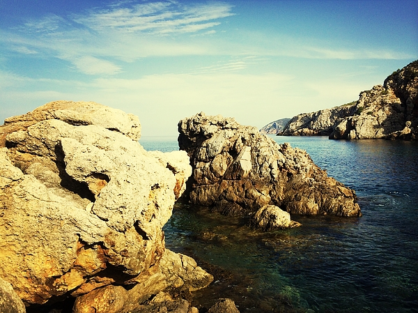 Rock Formation And Sea Photograph by Alexandra Barrio Hilera / EyeEm