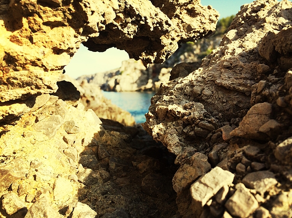 Rock Formation In Sunlight And Lake Photograph by Alexandra Barrio Hilera / EyeEm