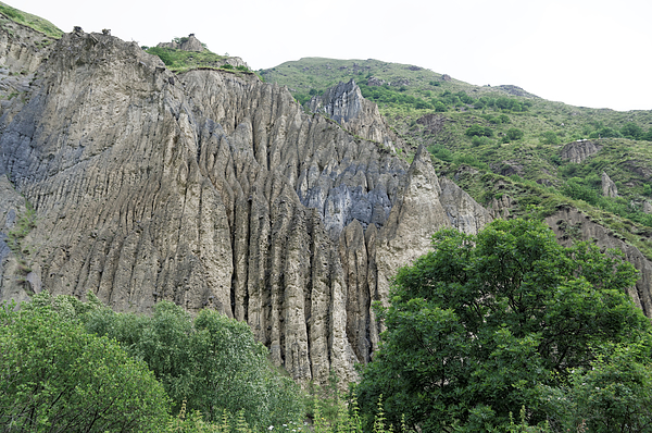 Rock formations near the Russia/Georgia border in the Argun River Valley Photograph by Vyacheslav Argenberg