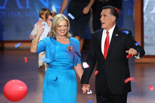Romney Accepts Party Nomination At The Republican National Convention Photograph by Mark Wilson