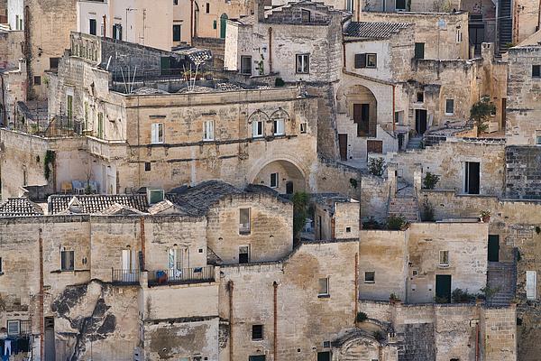 Rooftop Cityscape, Matera, Basilicata, Italy Photograph by Mauro Tandoi