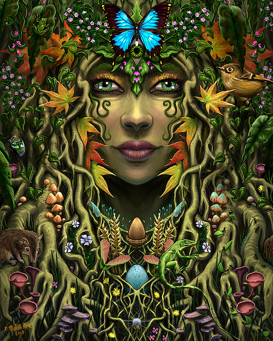 Ecology Painting - Rooted Together by Cristina McAllister