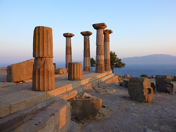 Ruins of temple of Athena in Assos  (The i Photograph by Frans Sellies