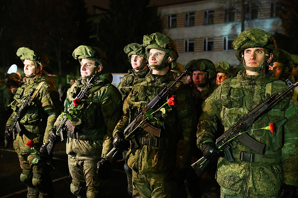 Russian sappers return home from Syria Photograph by Sergei Fadeichev