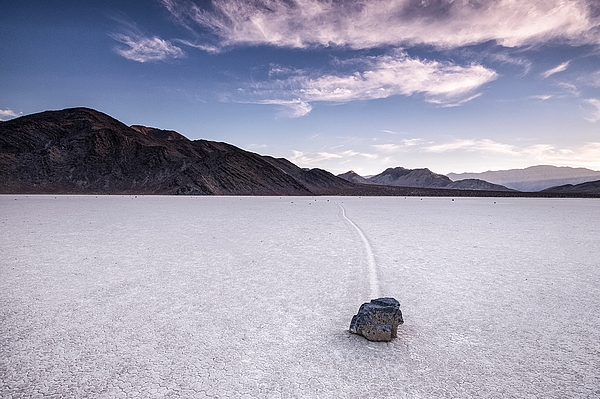 Sailing Stone At Racetrack Playa Against Sky Photograph by Patrick Walsh / EyeEm