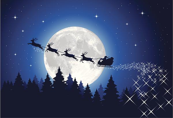 Santa Claus Sleigh Tonight Drawing by Paci77
