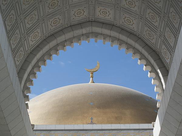 Saparmurat Niyazov (Turkmenbashi) mosque, near Ashgabat Photograph by Chris Bradley / Design Pics