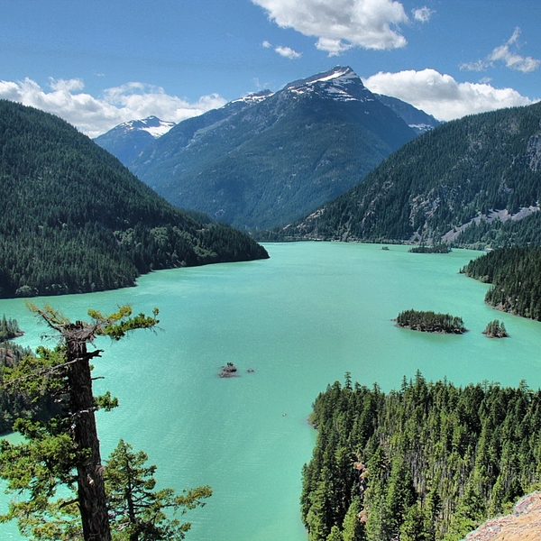 Scenic View Of Diablo Lake And Mountains Photograph by Bruce Potts / EyeEm