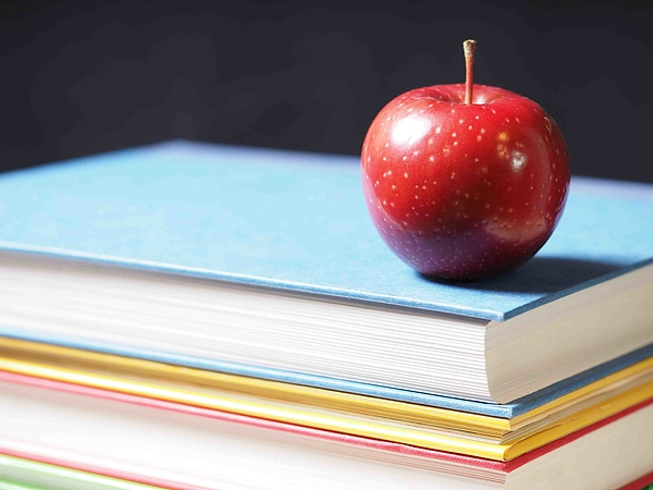 School Books With Apple Photograph by Andy Clement - andyc.com