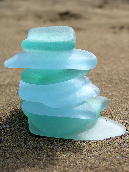 Sea Glass Cairn Photograph by Jodiecoston