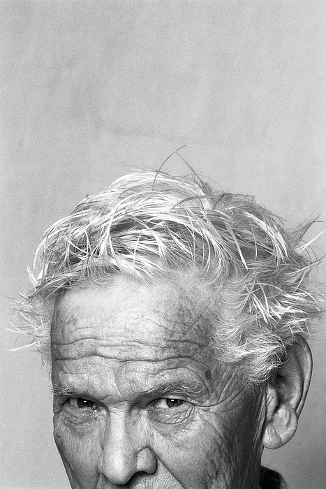 Senior man with messy hair, portrait, cropped Photograph by PhotoAlto/Isabelle Rozenbaum