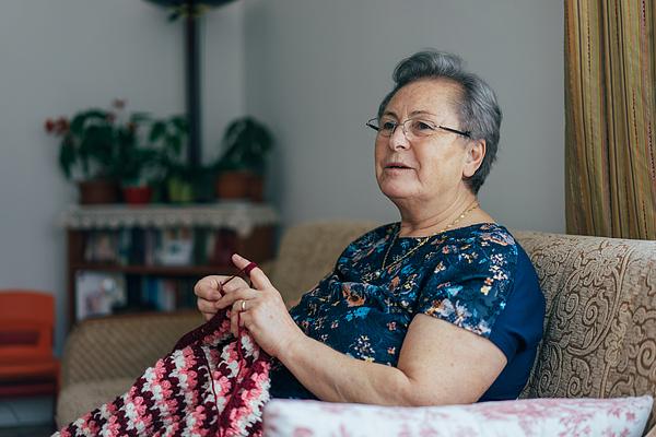 Senior Woman Knitting Photograph by Hsyncoban