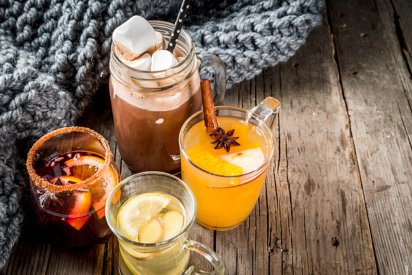 Set of 4 autumn drinks Photograph by Rimma_Bondarenko