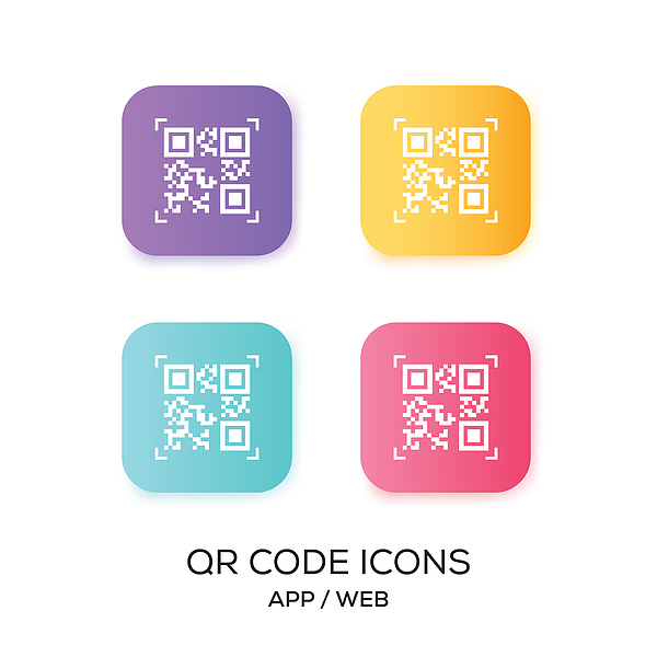 Set of QR Code App Icon Drawing by Cnythzl