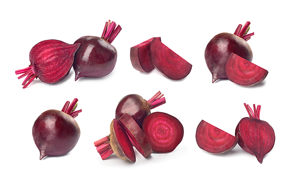 Set Of Red Beet On A White Background Photograph by Urfinguss