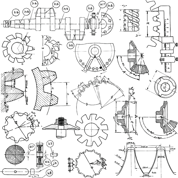 Several Technical Drawings Drawing by Jobalou