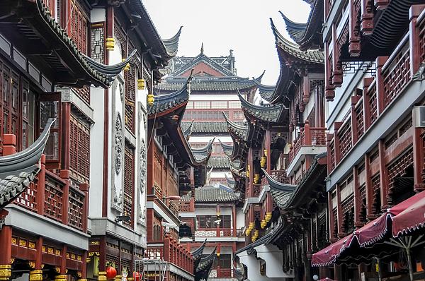 Shanghai Yu Yuan Garden Photograph by Luxizeng