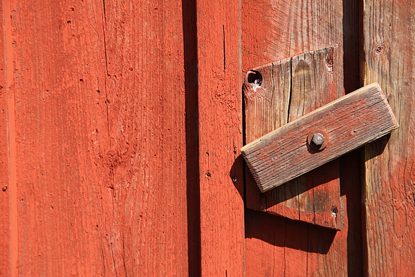 Simple wooden lock Photograph by Pejft