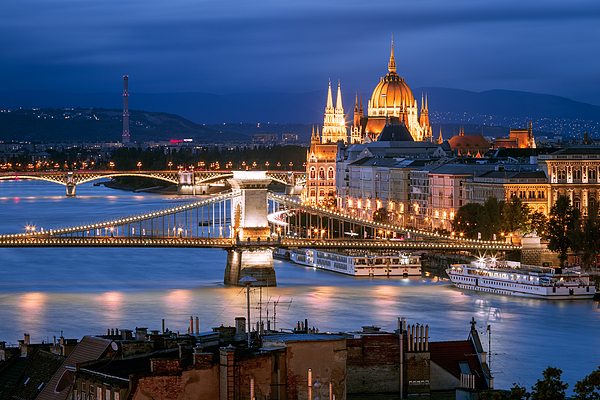 Skyline, Budapest, Hungary Photograph by Joe Daniel Price