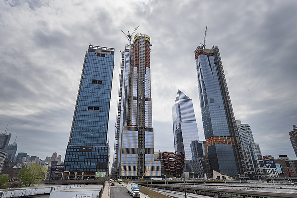 Skyscrapers Construction Site In Manhattan West, Hudson Yards Photograph by Maciej Frolow