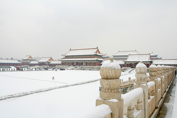 snow over the Forbidden City Photograph by MOAimage