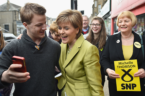 SNP Leader Nicola Sturgeon Unveils An Anti-Austerity Plan To Boost the NHS Photograph by Jeff J Mitchell