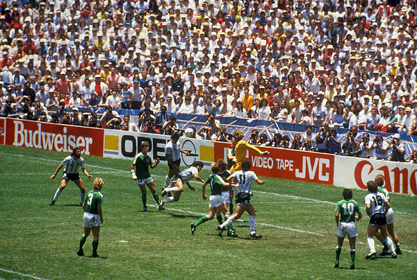 Soccer - FIFA World Cup 1986 - Final - West Germany v Argentina - Estadio Azteca, Mexico City Photograph by Peter Robinson - EMPICS