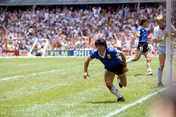 Soccer - World Cup Mexico 86 - Quarter Final - England v Argentina Photograph by PA Images Archive